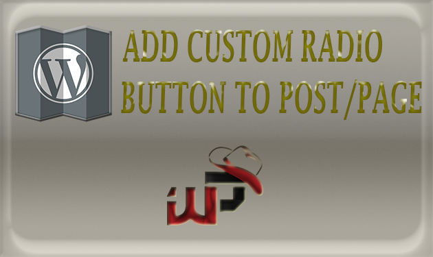 How to Add Radio Button to Post or Page in WordPress