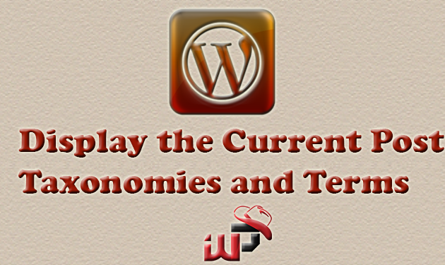 Display Current Post Taxonomies and Terms in WordPress
