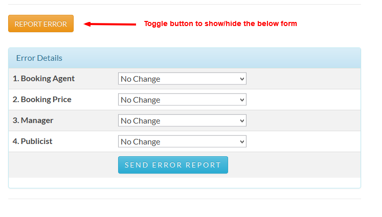 1. Button added end of the content with form