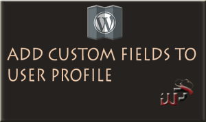 How to add Custom Fields to user profile in WordPress