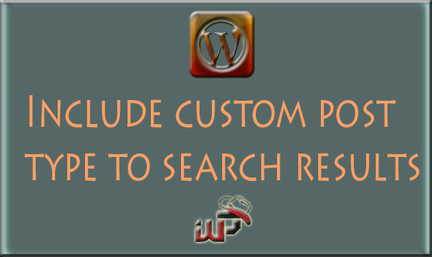 How to include custom post type in Search Results