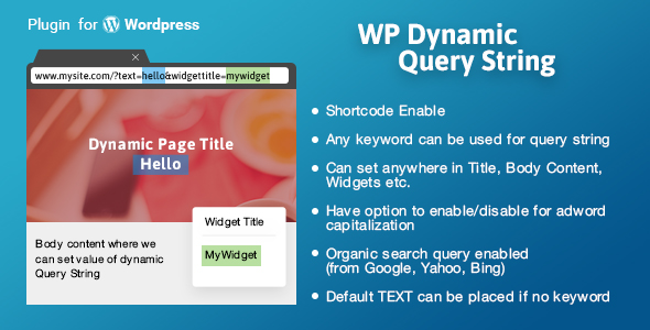 WP Dynamic Query String