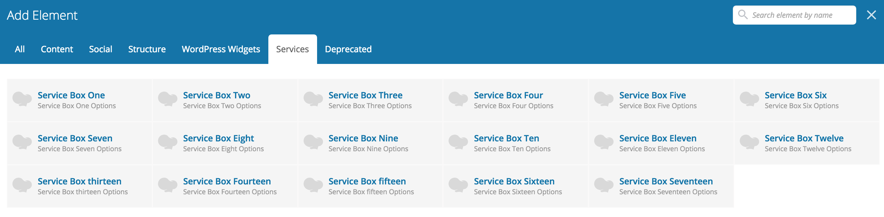 Interactive Service Plugin with Hover Effects VC » WP Hats