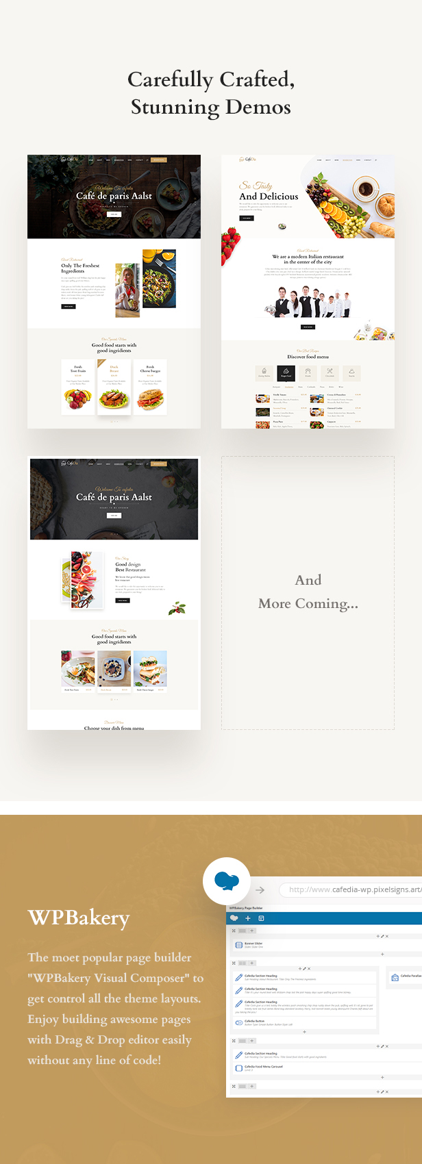 cafedia - cafe and restaurant wordpress theme