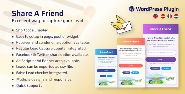 WP Share A Friend – A Way to Capture Lead
