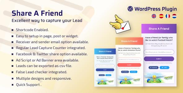WP Share A Friend – A Way to Capture Lead